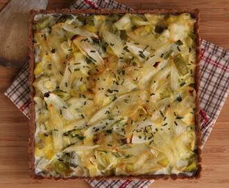 Recettes de tarte aux poireaux sans cr me ni lait mytaste - Tarte aux poireaux sans oeufs ...