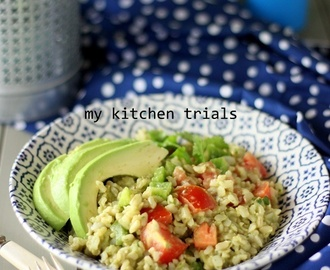 Brown rice detox salad
