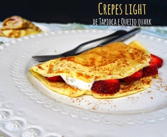Crepes light de tapioca e queijo quark