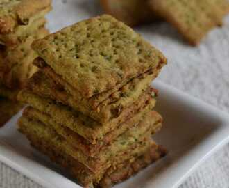 Whole Wheat Masala Crackers