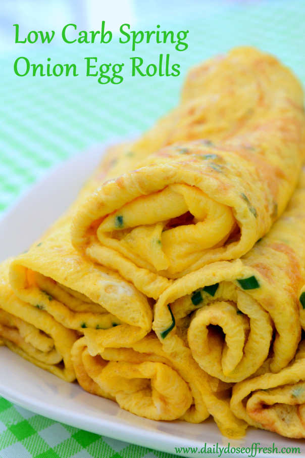 Low Carb Spring-Onion egg rolls