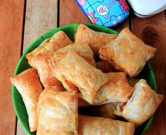 Bite size Puff with Sweet potato curry - Curry Puff - Snacks recipe - Kids friendly Recipe