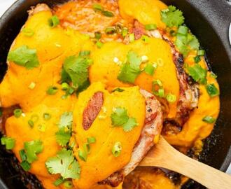 Grilled Curry Turkey Thighs (Cast Iron Skillet)