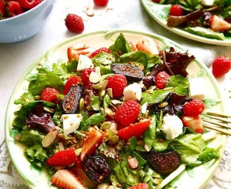 Berry and Fig Salad with Vanilla Vinaigrette (GF, Paleo option)