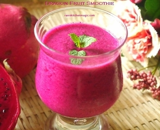 Dragon fruit or Pitaya Smoothie