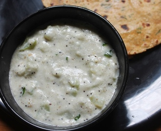 Chow Chow Paal Kootu Recipe - Chayote Milk Kootu Recipe