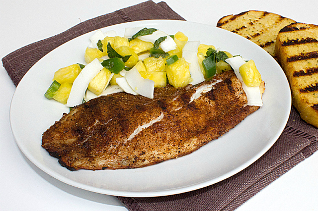 Guest Post Thursday – Grilled Tilapia With Pineapple Coconut Salsa With Steve Of The Black Peppercorn
