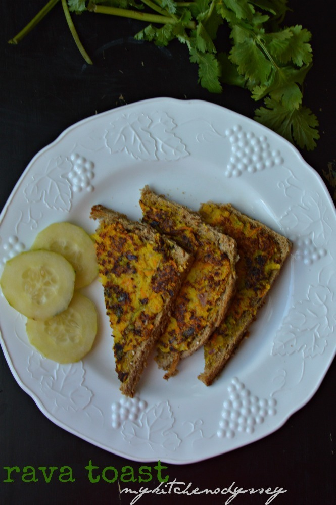 Indian Style Rava Toast Recipe |  Bread Recipes