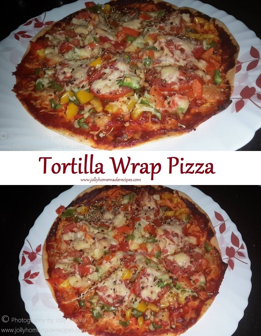 Tortilla Pizza Recipe, How to make Tortilla Wrap Pizza Recipe