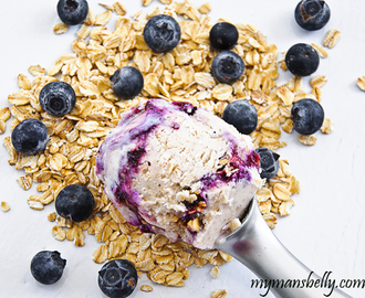 A Blueberry Ice Cream – Blueberry Crisp Mash Up