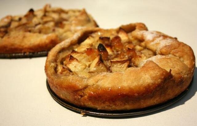Rustic Free-Form Apple Tartlets