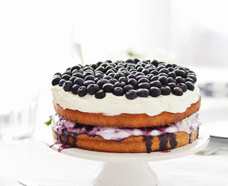 Walnut Blueberry Cake