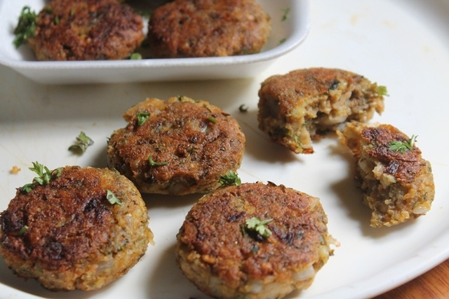 Moong Sprouts Tikki Recipe - Sprouts Kebab (Cutlet) Recipe