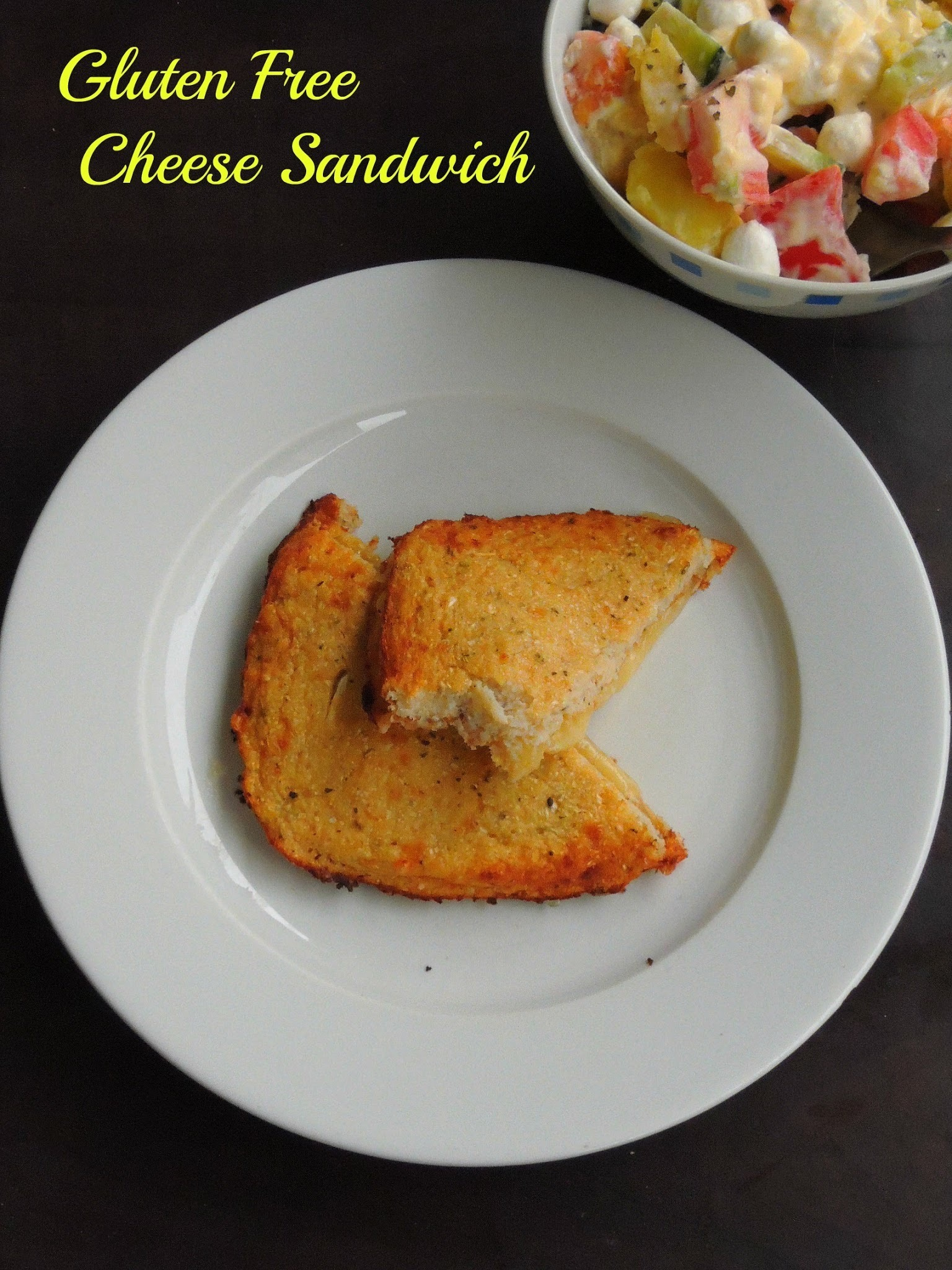 Low Carb Cauliflower Crusted Cheese Sandwich/Gluten Free Cheese Sandwich