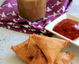 Keema samosa recipe - Meal Maker Vegetable Samosa - Snack Recipe - Kids friendly recipe - Party food