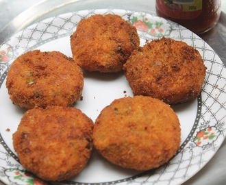 Bakery Style Vegetable Cutlets Recipe - Veg Cutlets Recipe