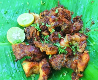 Street Food Style Chicken Fry Recipe - Thattukadai Chicken Fry Recipe