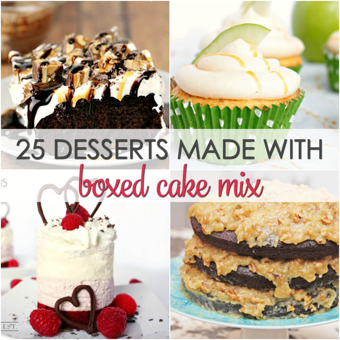 25 Desserts Made with Boxed Cake Mix