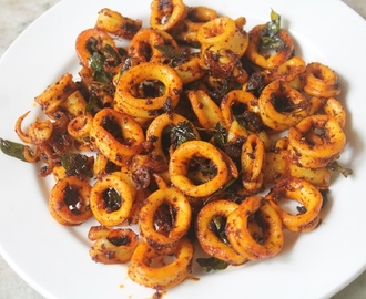 Squid Fry Recipe - Kanava Fry Recipe - Squid Masala Fry Recipe