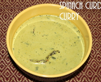 Spinach curd curry recipe – how to make spinach curd curry recipe – Indian curry recipes