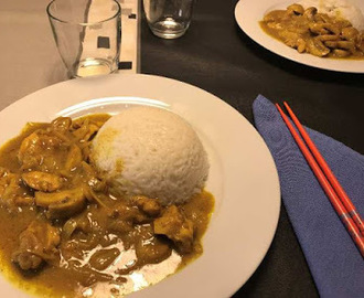 Pollo al curry con arroz basmati de Guillermo