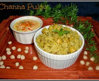 Channa Pulao / Channa Biryani / Kabuli Channa Pulao Recipe / Chickpeas Pulao /Chana Biryani Recipe