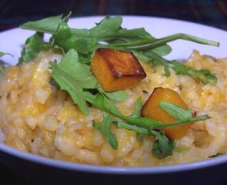 Risotto of Pumpkin With Rocket and Parmesan