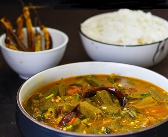 Bendakaya Pulusu, Okra in Tamarind Curry