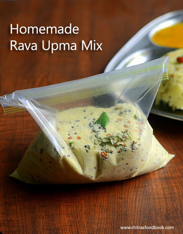 Instant Upma Mix Recipe – Rava Upma Mix