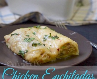Chicken Enchiladas in Spicy White Sauce