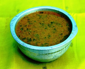 Keerai Theeyal (Spinach with roasted coconut)