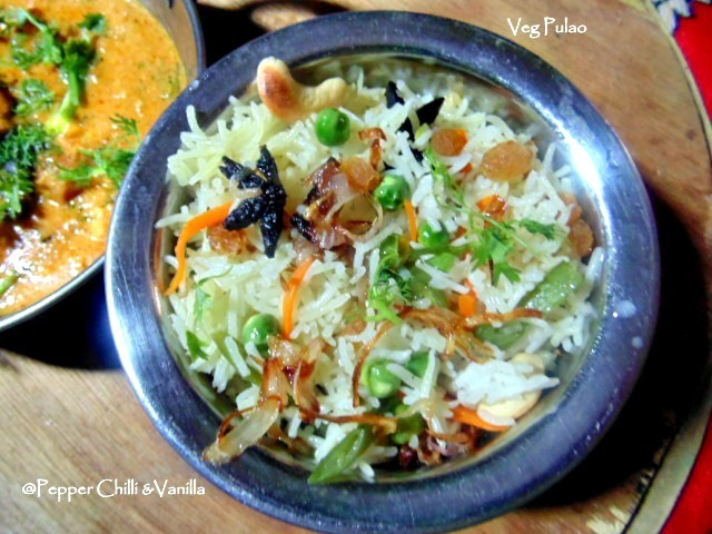 Veg Pulao Recipe/Quick and Easy Veg Pulao Pressure Cooker Method