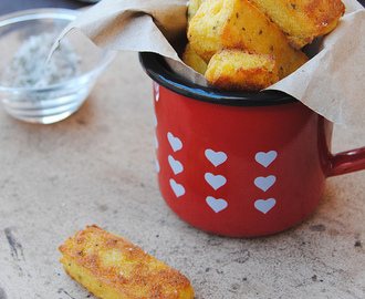Ricotta and polenta chips with sage salt for Gluten Free (Fri)Day