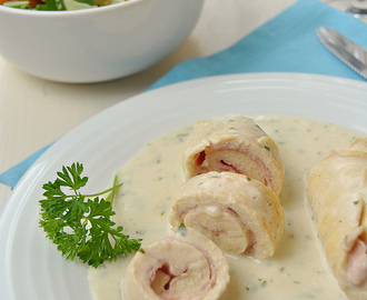 Chicken Rolls with Ham and Cheese