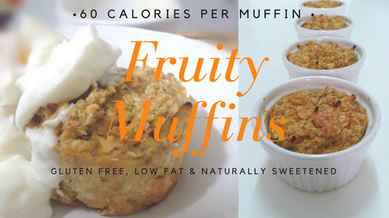 60 Calorie Fruity Muffins – Fast & Filling Breakfast or Snack