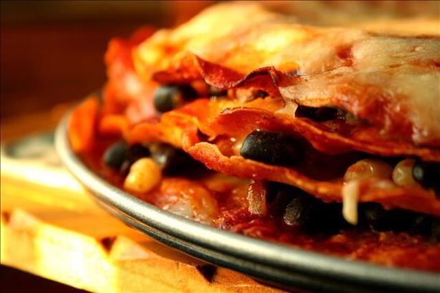Sonoran Black Bean & Corn Enchiladas