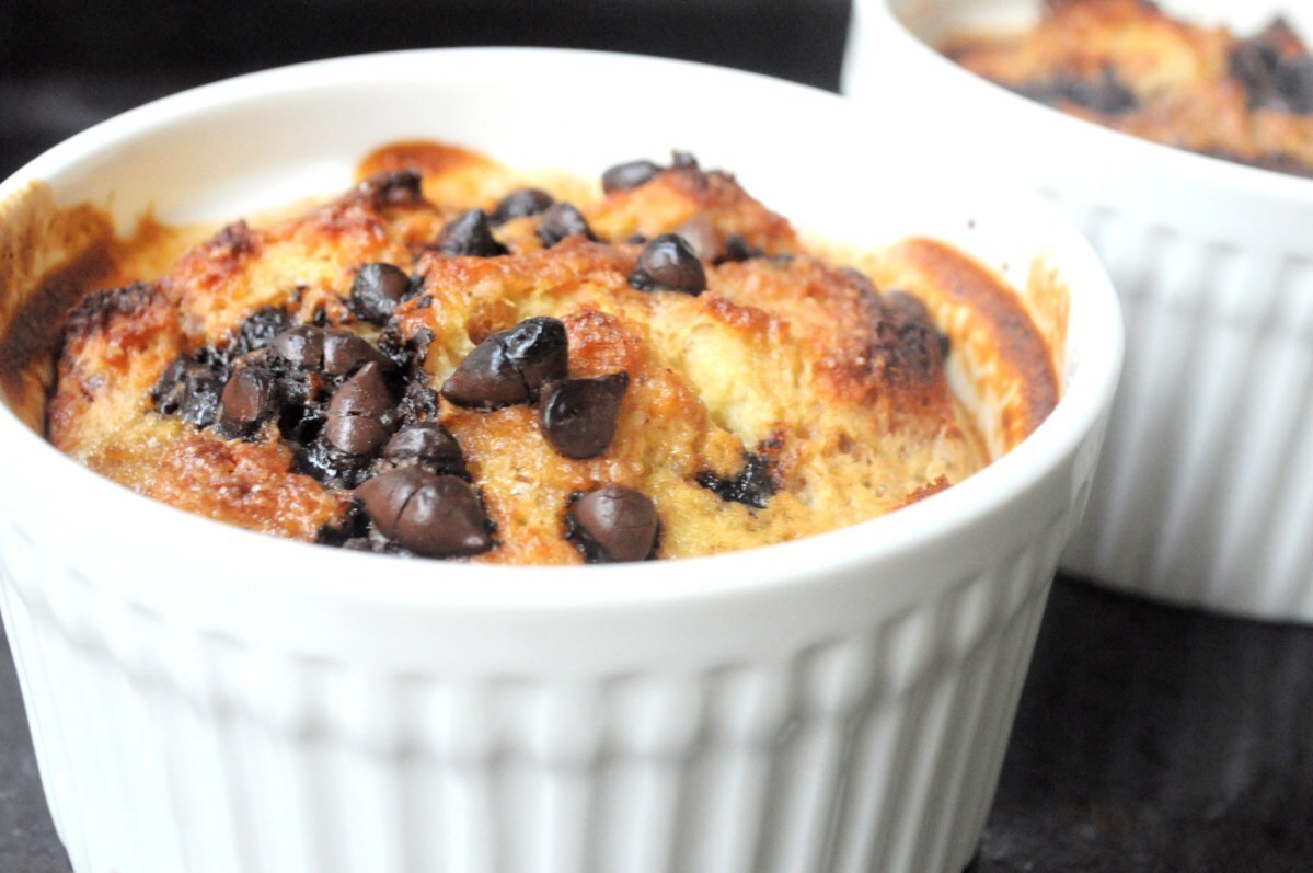 Chocolate & Banana Bread Pudding