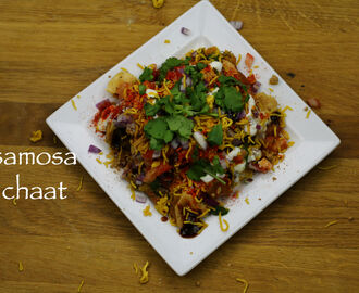 samosa chaat recipe | easy samosa chaat recipe