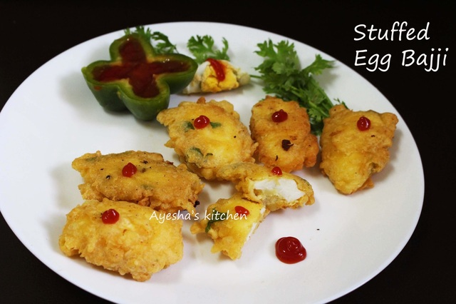 EGG SNACKS - STUFFED EGG BAJJI / EGG BONDA