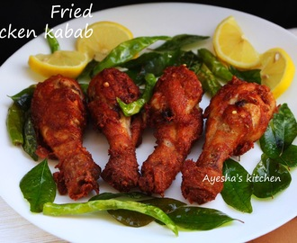 FRIED CHICKEN KABABS RECIPE - CRISPY FRIED CHICKEN DRUMSTICK
