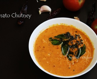 EASY CHUTNEY RECIPE - TOMATO GARLIC CHUTNEY