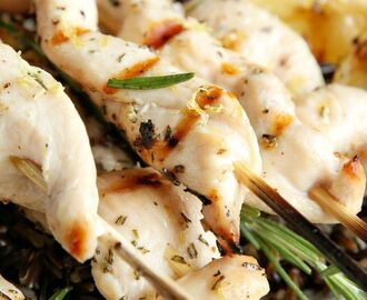 Lemon-Rosemary Chicken Kebabs