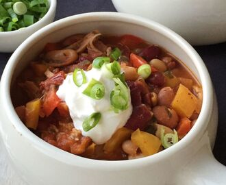 Spicy Adobo Chicken Chili