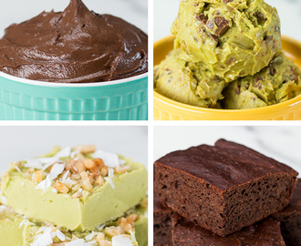 Avocado Desserts 4 Ways
