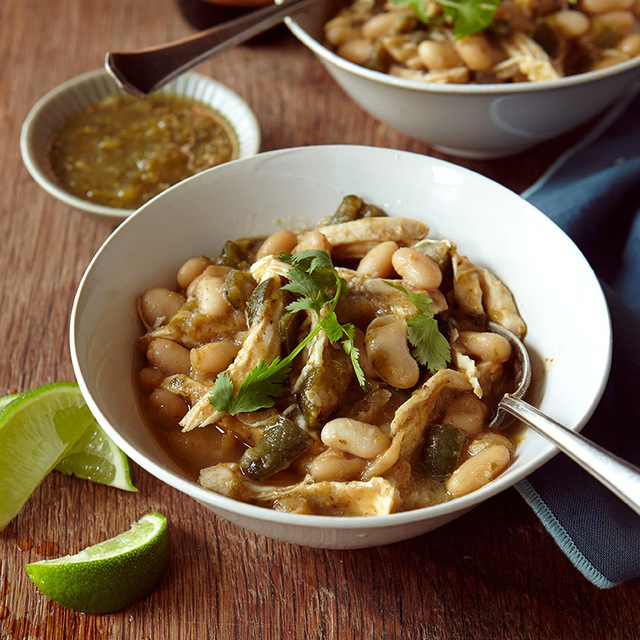 White Chicken Chili with Salsa Verde