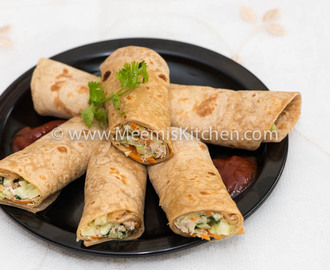 Healthy Chicken and Vegetable wrap