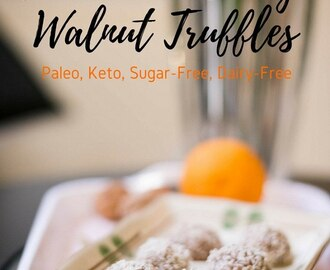 Cardamom Orange Walnut Truffles Recipe [Paleo, Keto, Low-Carb, Dairy-Free]