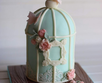 Birdcage Cakes with Edible Lace