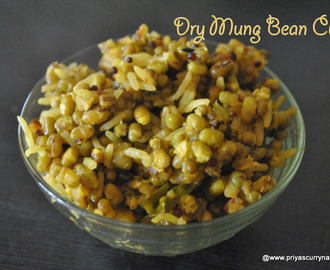 Gujrati Dry Mung bean curry recipe, how to make gujarati chuta maag