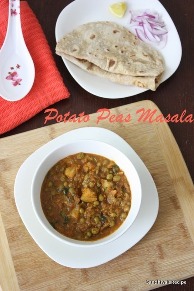 Potato Peas Masala | Aloo Matar Gravy | Pattani Urulai Curry